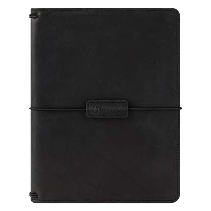 Classic Leather Elastic Travelers Cover - Black by Franklin Covey