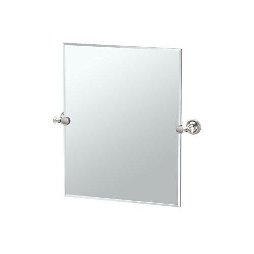 good Gatco 4599 Laurel Ave. Oval Mirror, Satin Nickel