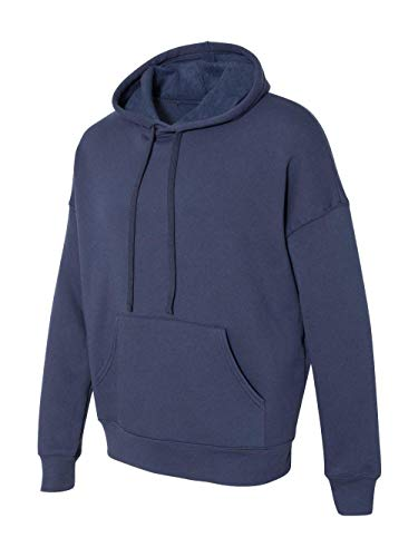 Bella + Canvas Unisex Sponge Fleece Pullover Hoodie M NAVY
