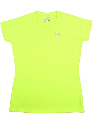 (Under Armour Women's T-Shirt, Lime Green/Steel, S)