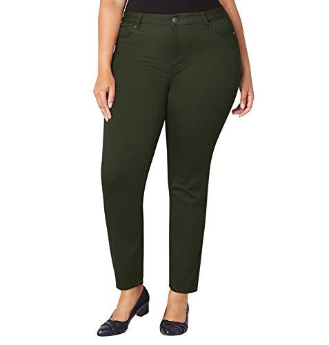 Avenue Women's Butter Denim Skinny Jean in Olive, 14 Olive