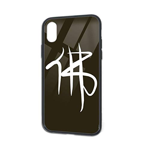 Anti-Fall Chinese Characters Buddha Soft Silicone TPU Phone Case for iPhone X iPhone Xs