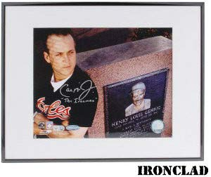 Cal Ripken Jr. Autographed Signed Baltimore Orioles 8x10 Photo Ironman Deluxe Framed Photo - MLB Hologram (Baltimore Orioles Ironman Framed)