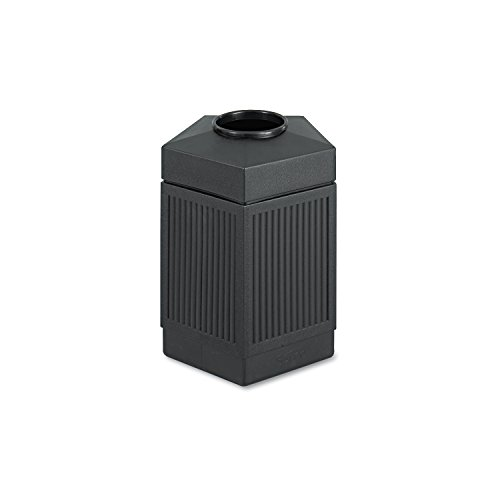 Safco Products 9486BL Canmeleon Indoor/Outdoor Waste Receptacle, Pentagon, 45-Gallon, Black