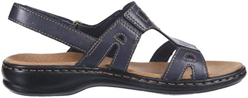 Women Sandal Leisa navy CLARKS Annual leather Cqdn1gqwUA