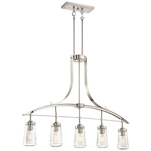Minka Lavery Chandelier Lighting 3306-84 Poleis, 5-Light , 300 Total Watts, Brushed Nickel