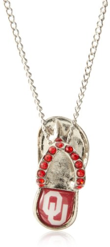 NCAA Oklahoma Sooners Crystal Flip Flop Necklace by aminco