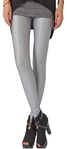 Leggings Élastiques et Brillants de Ro Rox (Argent)