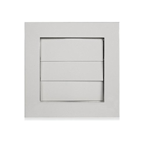 Architectural Grille DV - White Gloss AG Dryer Vent Cover 6.25 Inches x 6.25 Inches Aluminum - White Gloss