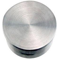 KegWorks Flush Flat End Cap - Brushed Stainless Steel - For 2