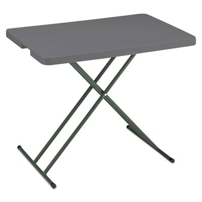 IndestrucTables Too 1200 Series Resin Personal Folding Table, 30 x 20, Charcoal, Sold as 1 Each by Generic