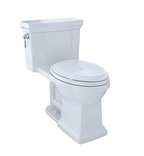 TOTO MS814224CUFG#01 Promenade II 1G One-Piece Elongated 1.0 GPF Universal Height Toilet with CeFiONtect Cotton