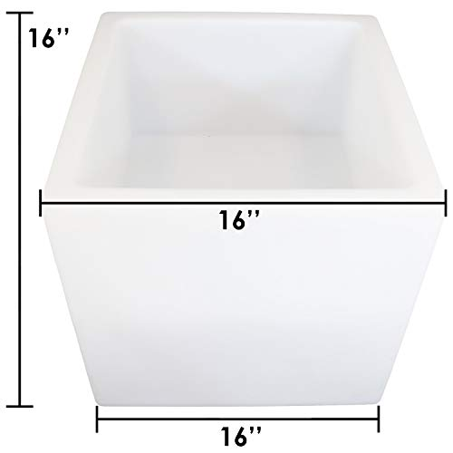 Sunnydaze Indoor/Outdoor LED Ice Bucket with Remote Control, Rechargeable Battery, RGB Color-Changing, 16-Inch Cube by Sunnydaze Decor (Image #7)