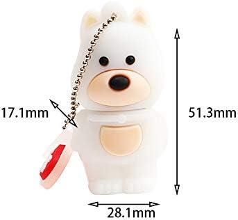 Qifumaer 64GB USB Thumb Flash Drive Cute Zodiac Dog 2.0 Memory Stick Novelty Gift Cartoon