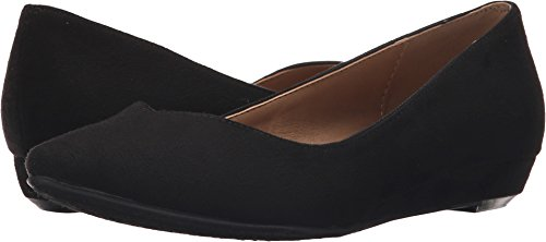 CL by Chinese Laundry Women's Shanice Pointed Toe Flat, Black Super Suede, 8 M US