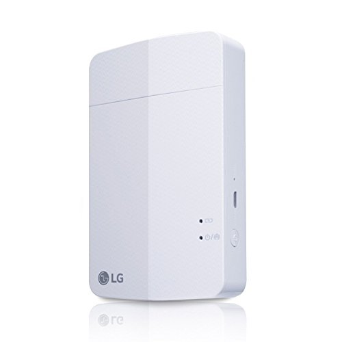 New LG PD251 Portable Mobile Pocket Photo Printer 3 [White] (Follow-up Model of PD241 and PD239) Bluetooth Wireless Printing for iOS, Android and Windows OS
