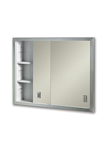 Jensen B703850X Sliding Doors 24.625 by 19.1875 Medicine Cabinet, 24.62