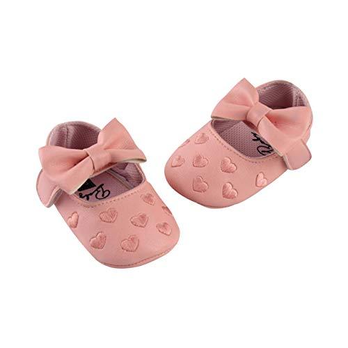 DEBAIJIA Baby Meisje Prinses Schoenen Peuter Prewalker Schoenen Mooie Kant Zachte Zool Antislip Leer Modieus 6-18…