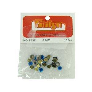 Bulk Buys Blue rhinestones with mount Case Of 24