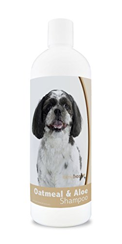Breeds Poo Dog (Healthy Breeds Aloe & Oatmeal Dog Shampoo for Shih-Poo - OVER 200 BREEDS - 16 oz - Mild & Gentle for Sensitive Skin - Hypoallergenic Formula & pH Balanced)