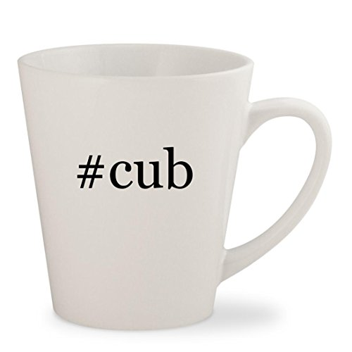 #cub - White Hashtag 12oz Ceramic Latte Mug Cup - Mlb 12 Ounce Tumbler