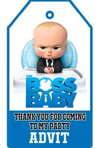 f1530e12 WoW Party Studio Personalized Boss Baby Theme Thank You Tags with Birthday  Boy Girl Name (