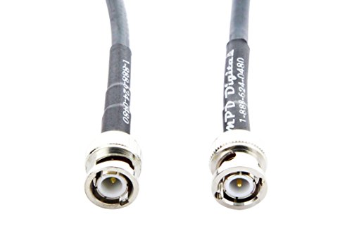 MPD Digital rg8x-bnc-antenna-cable-25ft RG-8X MILSPEC Mini-8 Coax with BNC Male to BNC Male Connectors On RG8x Jumpers, Antenna Lines and Patch Cables
