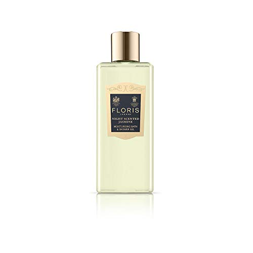 Floris London Night Scented Jasmine Moisturising Bath & Shower Gel, 8.4 Fl Oz