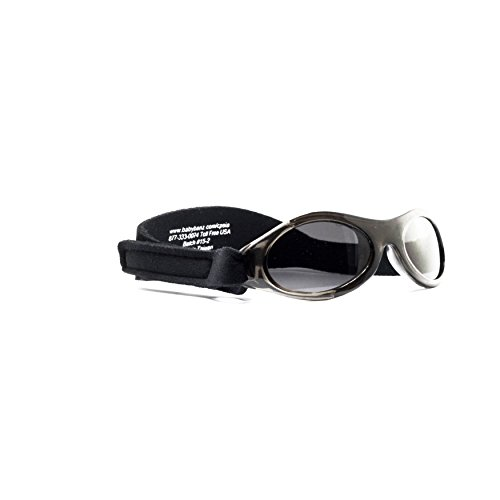Baby BanZ: Adventure BanZ - Baby: Midnight Black | 100% UV Protection | Age: 0-2 - Baby Strap Sunglasses