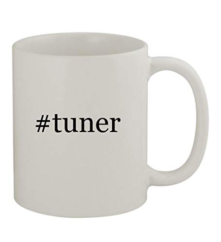 #tuner - 11oz Sturdy Hashtag Ceramic Coffee Cup Mug, White