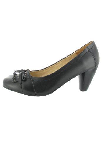 SALE - ANDREA CONTI - Damen Pumps - Schwarz Schuhe in Übergrößen