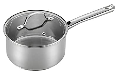T-fal E75824 Performa Stainless Steel Dishwasher Safe Oven Safe Sauce Pan Cookware, 3-Quart, Silver