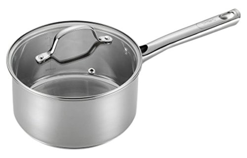 T-fal E75824 Performa Stainless Steel Dishwasher Safe Oven Safe Sauce Pan Cookware, 3-Quart, Silver by T-fal