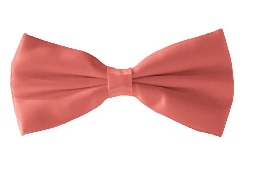 Tie Tie Fromal Coral Smart Bow Bow Men's Various Satin Fine Bow Tie Shine Dickie Colours qn18xwTI