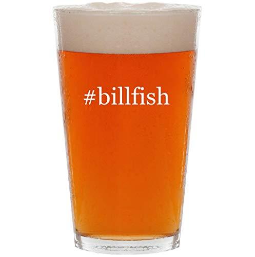 #billfish - 16oz Hashtag All Purpose Pint Beer Glass (Shoes Billfish Asv Boat)