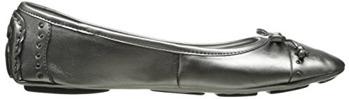 10 Pewter Anne Sport Flat Women's M Synthetic Ballet Klein US Buttons Ivory wpPTw8qa