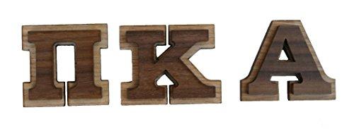 Pi Kappa Alpha Double Raised Wood Greek Letter 1 1/2