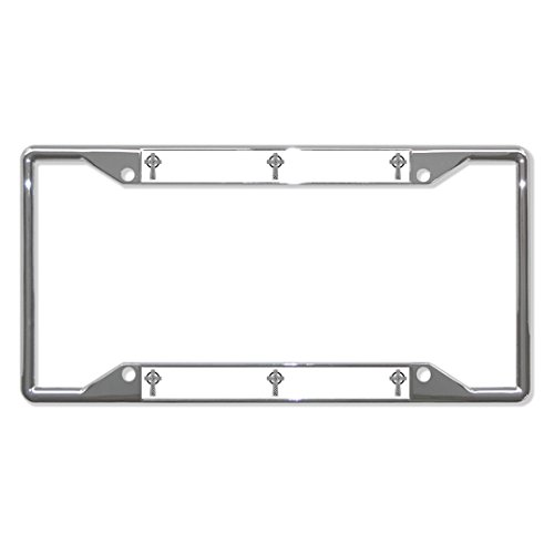 Chrome Celtic Cross - Fastasticdeals Celtic Cross Religion Metal License Plate Frame Tag Holder Four Holes Chrome