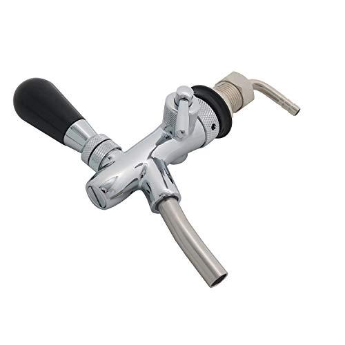 Adjustable Beer Tap Faucet Stainless Steel Draft Beer Faucet Flow Controller Chrome Plating Shank G5/8 Tap Keg For Kegerator
