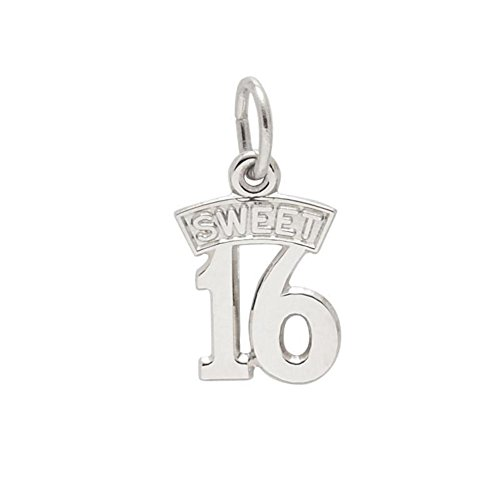 Rembrandt Sterling Silver Sweet 16 Charm (16 Silver Charm Sweet Sterling)