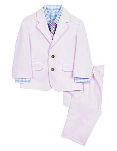 Nautica Baby Boys 4-Piece Formal Dresswear Suit Set, Pixie Pink, 18 -