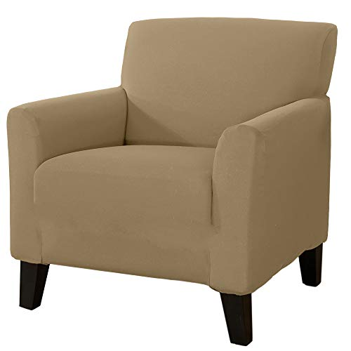 Home Fashion Designs 1-Piece Spandex Slipcover Dawson Collection. (Chair, Warm Sand) (For Slipcovers Armchairs)