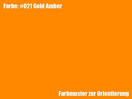 Rosco Farbfolie Gold Amber 021 Kamera