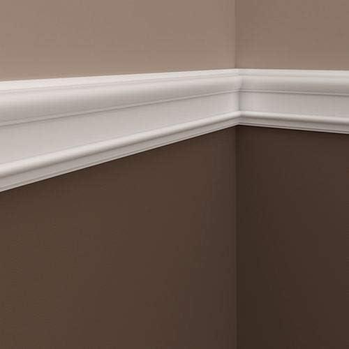 Moldura para pared 651307 Profhome Perfil de estuco Moldura decorativa Moldura decorativa pared estilo Neoclasicismo blanco 2 m