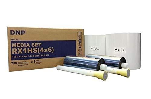 DNP 2x Print Media for DS-RX1HS High Speed Dye Sub Printer - 4x6'' 700 Prints Per Roll; 2 Rolls Per Case (1400 Total Prints) by DNP