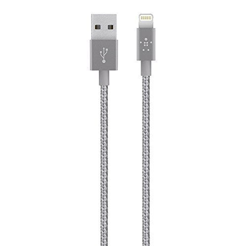 (Belkin Apple Certified MIXIT Metallic Lightning to USB Cable, 6 Inches (Gray))