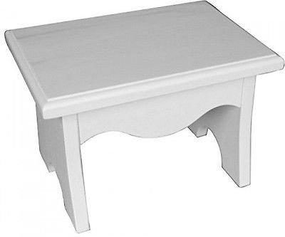 White Scalino sgabello per bambini Fatto in legno 20,3 x 27,9 cm