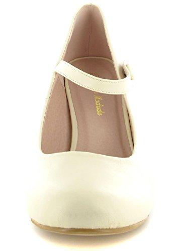 Andres Machado - Zapatos de vestir de Material Sintético para mujer Beige beige