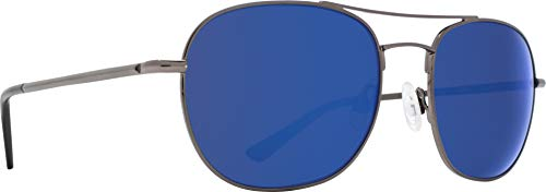Pemberton Gunmetal - HD Plus Gray Green with Dark Blue Spectra Mirror, -