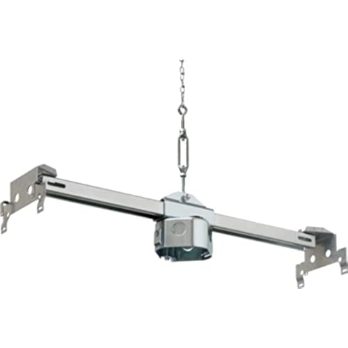 arlington fbrs420sc1 steel fan and fixture fan mounting box for suspended ceiling 70pound capacity metallic 1pack